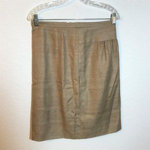 Akris Beige One-Sided Pleated Lined Skirt